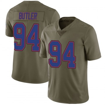 Youth Nike Buffalo Bills Vernon Butler Green 2017 Salute to Service Jersey - Limited