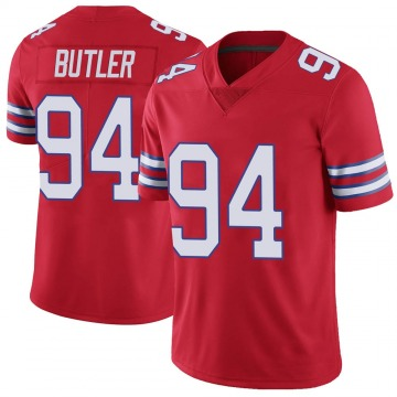 Youth Nike Buffalo Bills Vernon Butler Red Color Rush Vapor Untouchable Jersey - Limited