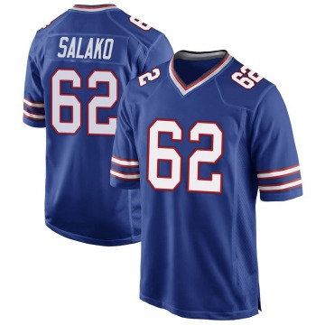 Youth Nike Buffalo Bills Victor Salako Royal Blue Team Color Jersey - Game