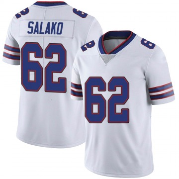 Youth Nike Buffalo Bills Victor Salako White Color Rush Vapor Untouchable Jersey - Limited